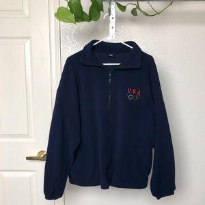 Vintage USA Olympic Zip Up Fleece Sweater